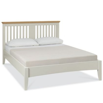 Cookes Collection Camden Soft Grey and Pale Oak Bedstead King