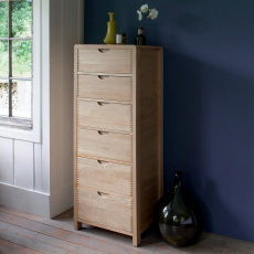 Ercol Bosco 6 Drawer Tall Chest
