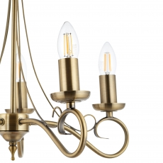 Antique Brass & 5 Candle Fitting