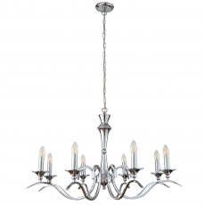 8 Light Chrome Pendant