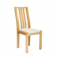 Ercol Bosco Dining Chair In Cream Fabric
