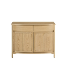 Nathan Shades Oak Shaped 2 Door Sideboard