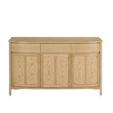 Nathan Shades Oak Shaped 3 Door Sideboard