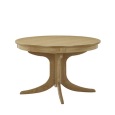 Nathan Shades Oak Sunburst Circular Pedestal Dining Table