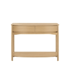 Nathan Shades Oak Shaped Console Table