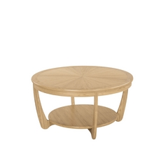 Nathan Shades Oak Sunburst Round Coffee Table