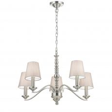 5 Light Fitting in Satin Nickel