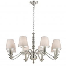 8 Light Fitting in Satin Nickel