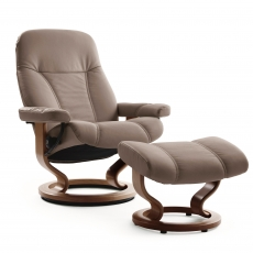 Stressless Consul Large Chair & Stool Classic Base