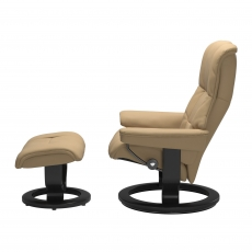 Stressless Mayfair Medium Chair & Stool Classic Base