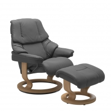 Stressless Reno Medium Chair And Stool