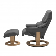 Stressless Reno Medium Chair & Stool Classic Base