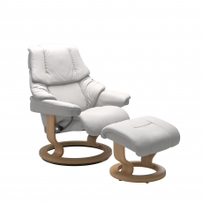 Stressless Reno Small Chair & Stool Classic Base
