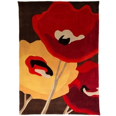 Infinite Modern Art Poppy Rug