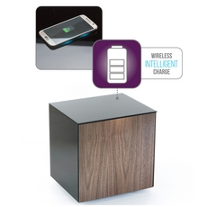 Lamp Table With Wireless Phone Charging In Black
