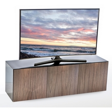 High Gloss 3 Door TV Unit With Wireless Phone Charging In Grey