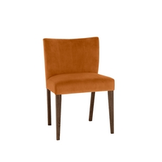 Cookes Collection Trinity Harvest Pumkin Velvet Dining Chair