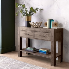 Cookes Collection Trinity Dark Oak Console Table