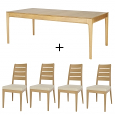 Ercol Romana Extending Dining Table And 4 Chairs