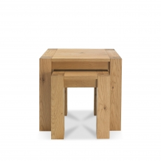 Cookes Collection Trinity Light Oak Nest of Tables