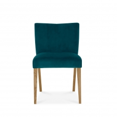 Cookes Collection Trinity Low Back Upholstered Chair Sea Green Velvet