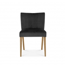 Cookes Collection Trinity Low Back Upholstered Chair In Gun Metal Velvet