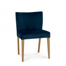 Cookes Collection Trinity Low Back Upholstered Chair In Dark Blue Velvet