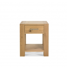 Cookes Collection Trinity Light Oak Lamp Table