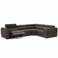 Natuzzi Editions Forza Electric Recliner Corner Sofa
