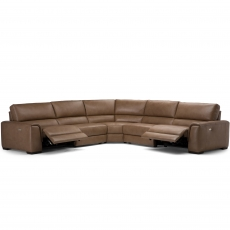 Natuzzi Editions Ozio Electric Recliner Corner Sofa