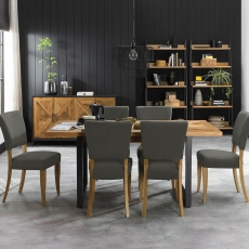 Cookes Collection Iris Extending Dining Table and 6 Chairs