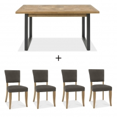 Cookes Collection Iris Dining Table and 4 Chairs