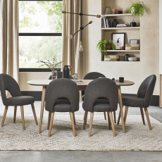 Cookes Collection Fino Scandi Oak Dining Table and 6 Chairs