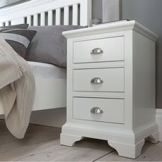 Cookes Collection Camden White 3 Drawer Nightstand