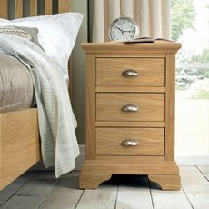 Cookes Collection Camden Oak 3 Drawer Nightstand