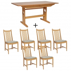 Ercol Windsor Medium Extending Table and 6 Chairs