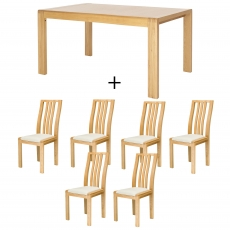 Ercol Bosco Medium Extending Dining Table and 6 Chairs