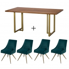 Mario Dining Table and 4 Chairs