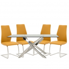 Anguilla Dining Table and 4 Pumpkin Chairs