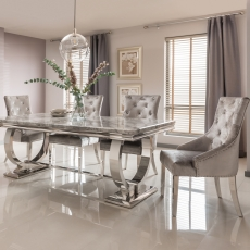 Valentina Dining Table and 4 Chairs