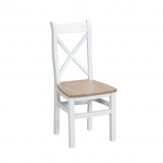 Cookes Collection Thames White Crossed Back Wooden Chair