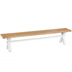 Cookes Collection Thames White Large Bench