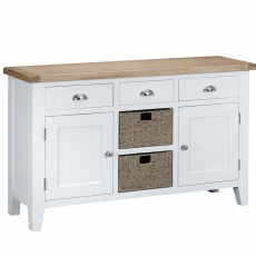 Cookes Collection Thames White Large Sideboard