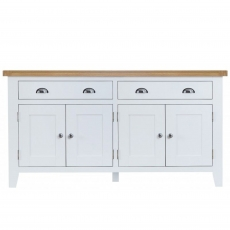 Cookes Collection Thames White 4 Door Sideboard