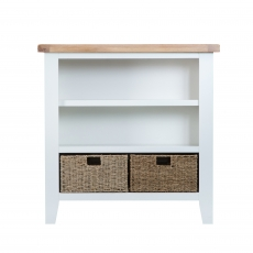 Cookes Collection Thames White Small Wide Bookcase