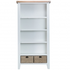 Cookes Collection Thames White Large Bookcase
