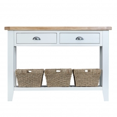 Cookes Collection Thames White Large Console Table
