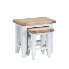Cookes Collection Thames White Nest of Tables