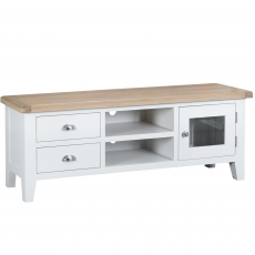 Cookes Collection Thames White TV Unit