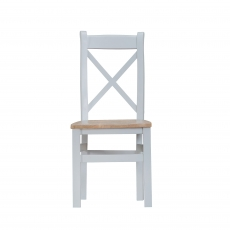 Cookes Collection Thames Grey Cross Back Chair